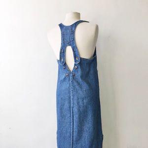 Vintage Studio Denim Button Back Maxi Jumper Dress